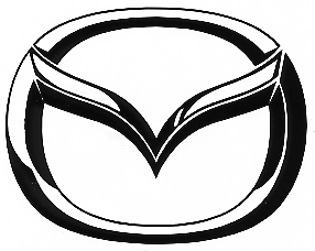 mazda logo black. how long does it take for my numbers letters or graphics to ship see the options mazda logo black