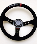 Driven Steering Wheels - 13.5 inch Dished Aluminum Suede Steering Wheel