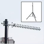 Yaggi Style Directional Antenna for Farmtek Timer Electronic Eyes with Stand