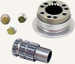 "Longacre Part Number 56605: Splined Aluminum QD Steering Hub Fits 5/8"" & 3/4"" Shaft"