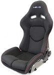 NRG Innovations RSC-400BK Reclinable Racing Bucket Seat