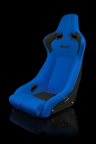 Venom-R Series Fixed Back Bucket Seat - Blue Cloth / Carbon Fiber