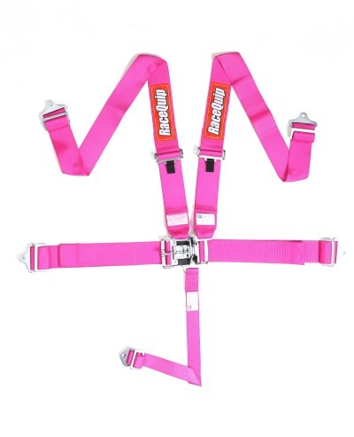 Pink Racequip SFI Latch and Link 5 Point Harness