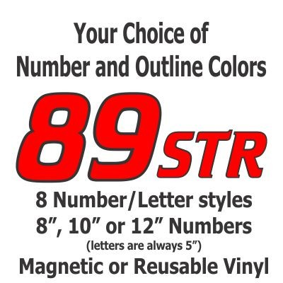 Outline Die Cut Autocross-Track Day-Race Car Magnetic or Reusable Individual Number Package