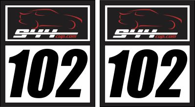 944 Cup Number Panel 18x20 (pair)