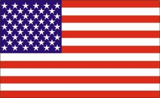 Decal, Auto Manufacturer, American Flag Pair (L&R), 3 1/4