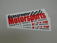 Decal, Autocross/Racing Related, Grassroots Motorsports, 9 1/4