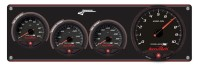 Longacre Part Number 44471: SMI Black Panel 3 Ga WT-280°/OP-100/OT-340° w/SMI Tach