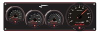 Longacre Part Number 44473: SMI Black Panel 3 Ga WT-280°/OP-100/FP-15  w/SMI Tach