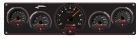 Longacre Part Number 44475: SMI Black Panel 4 Ga WT-280°/OP-100/OT-340°/FP-15  w/SMI Tach