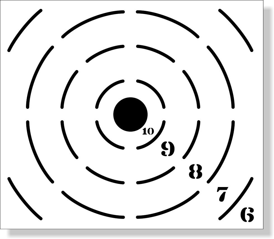 Precision Tactical Equipment Magnetic Target Stencil
