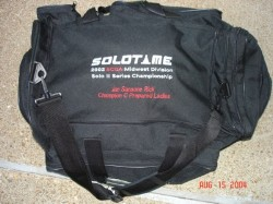 Large Racing Gear Bag with Custom Embroidery