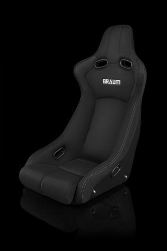 Venom-R Series Fixed Back Bucket Seat - Black Cloth / Carbon Fiber