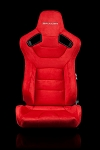 Braum Racing Elite Series Reclining Seat - Red Microsuede