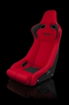 Venom-R Series Fixed Back Bucket Seat - Red Cloth / Carbon Fiber