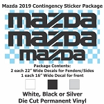 MAZDA Contingency Sticker Package
