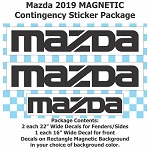 MAZDA Magnetic and Reusable Vinyl Contingency Sticker Package