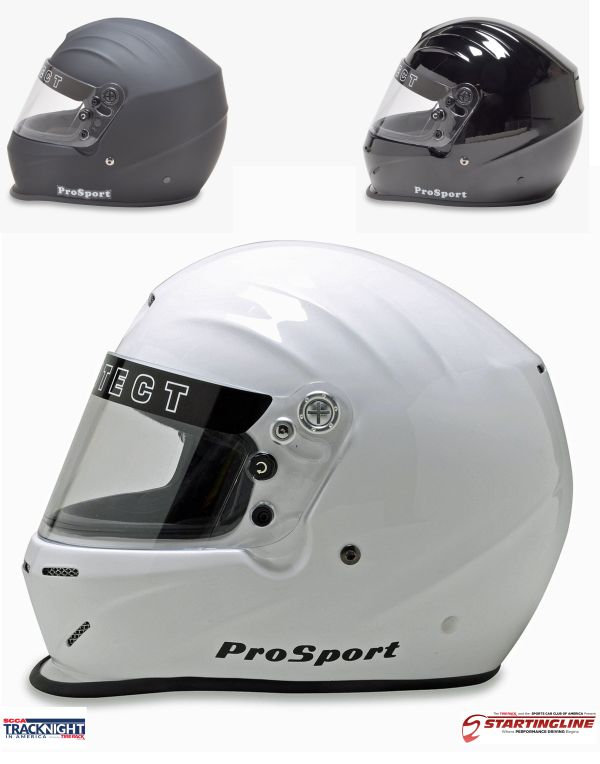 Pyrotect Full Face ProSport Duckbill SA2015 Helmet for SCCA Track Night or Starting Line