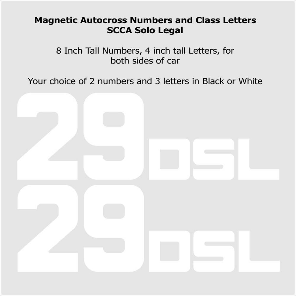 Solotime 8 inch Magnetic or Reusable Basic Number Package