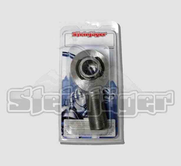 Retail Pack  1 Per  SJ-DXTM-10  Steinjager M10 x 1.50 RH x 10mm bore  4130 Chrome Moly Spherical Rod End Bearing  Bright Chrome Finish