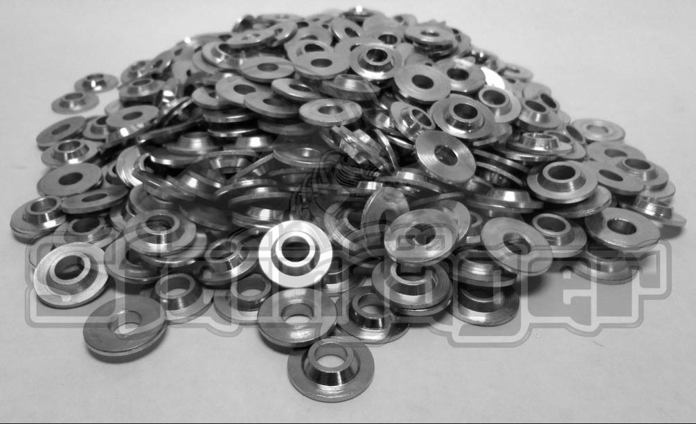 500 Pack  MCW-6  3/8 inch  ID Bore Spherical Rod End Spacer Washer  Plated Zinc Clear (Silver)