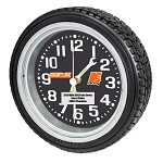 Tire Wall Mount Clock with personalization and Sponsor/Club Logo -Updated for 2019