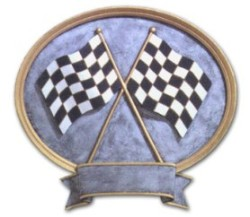 Checkered Flag Resin Trophy