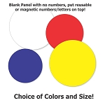 Permanent Vinyl Round Meatball Shaped Panel, No Numbers or Letters, Your choice of sizes and colors.