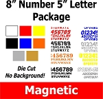 8 inch Single Color Magnetic Number Package with 5 Inch Class Letters
