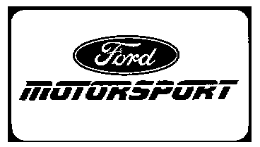 Decal, Auto Manufacturer, Ford Motorsport Large, 9 3/4