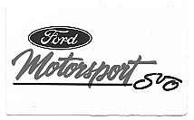 Decal, Auto Manufacturer, Ford Motorsport SVO, 4