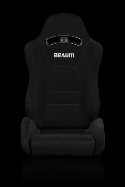 Braum Racing S8 Black Fabric/Microsuede Reclining Seats