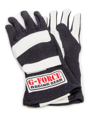 G-Force G5 RaceGrip, Driving Glove  SFI 3.3/5, Double Layer, Premium Nomex / Leather - Black