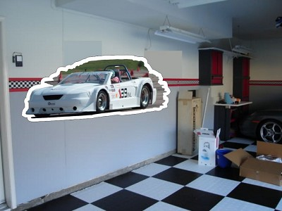 Custom Die Cut Garage Wall Art - Your Car on Your Garage Wall