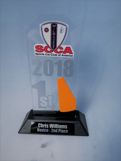 Acrylic Stand Up Trophy with Pylon